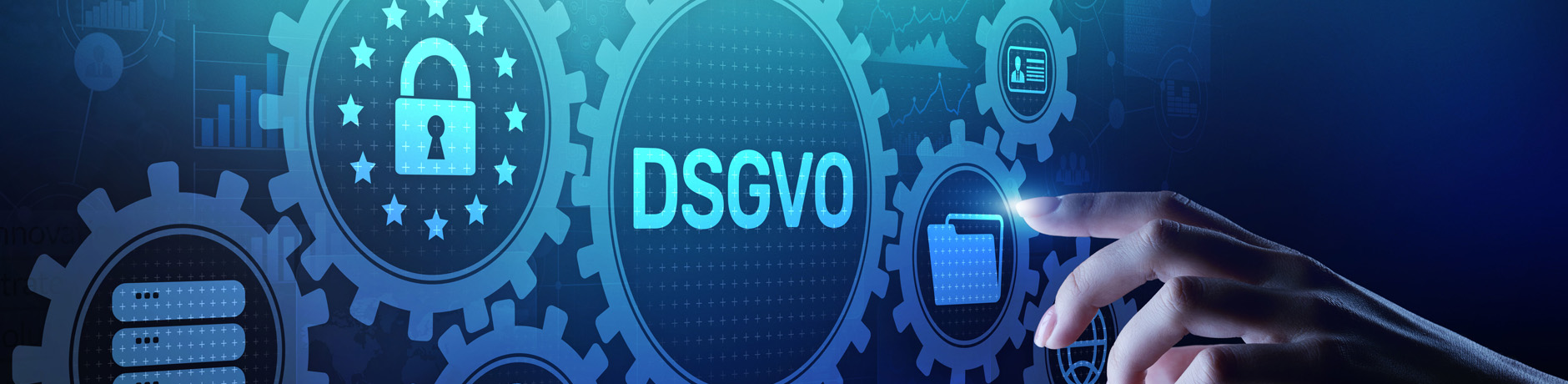 Testdatenmanagement - DSGVO, GDPR General data protection regulation european law cyber security personal information privacy concept on virtual screen